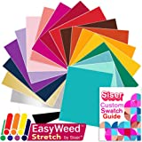 SISER EasyWeed Heat Transfer Shirt Vinyl EVERY Easyweed Stretch Color Bundle, 12 Inch x 15 Inch with Siser Custom Swatch Book by Swing Design