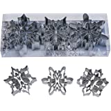 "R&M International 1920 Snowflake Cookie Cutters with Interior Cut-Outs, 3"" Assorted, 3-Piece Set"