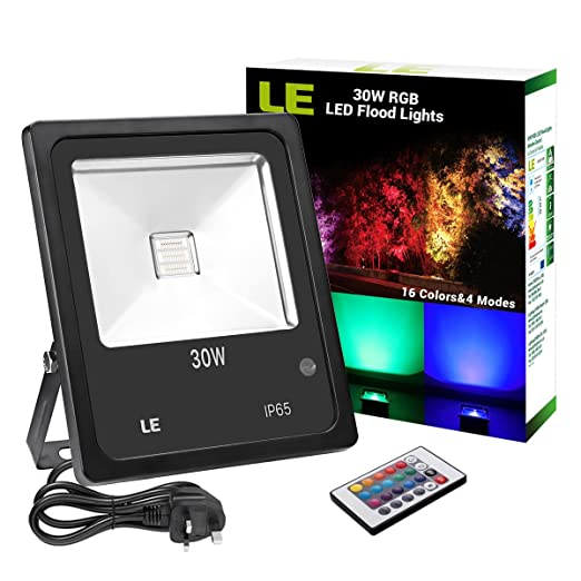 Le 30w rgb led flood lights remote control colour changing le 30w rgb led flood lights remote control colour changing security light 16 mozeypictures Image collections