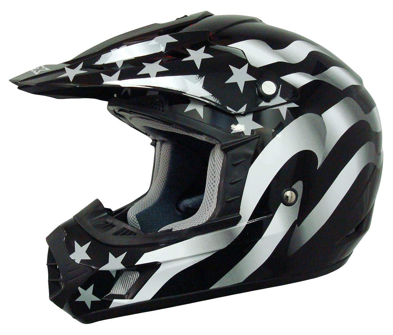 AFX FX-17 Freedom Flag White Off Road MX ATV Motorcycle Helmet