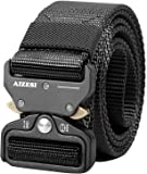 """AIZESI Men Tactical Belt 1.57"""" Heavy Duty Belt, Quick-Release Military Style Shooters Nylon Belts with Metal Buckle"""