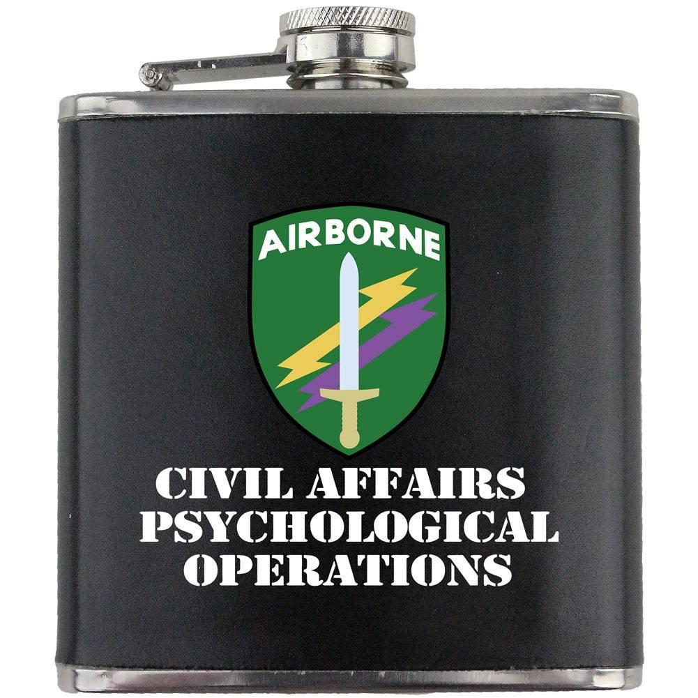 【サイズ交換OK】 Army Civil Affairs B0115JYF4Q Psych Army OpsフルカラーステンレススチールレザーWrapped 6オンス。フラスコ B0115JYF4Q, 行列のできるペット館:566d82ca --- oil.xienttechnologies.net