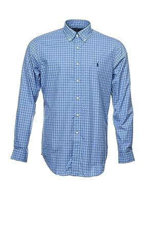 5ce3df57 Polo Ralph Lauren Men's Classic Fit Long Sleeve Button Down Shirt, Blue  Plaid, Large at Amazon Men's Clothing store: Button Down Shirts