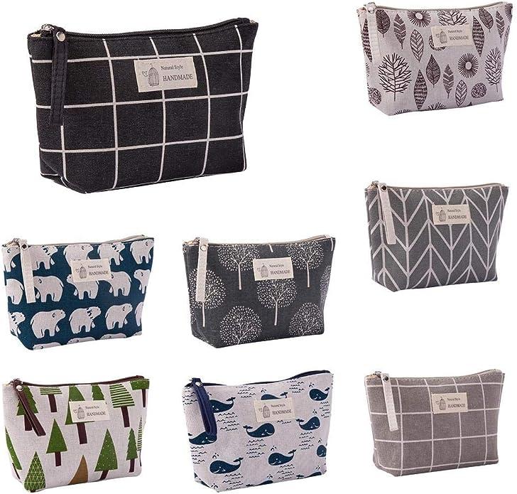 Idomeo Portable Large Capacity Print Cosmetic Bag Travel Makeup Bag