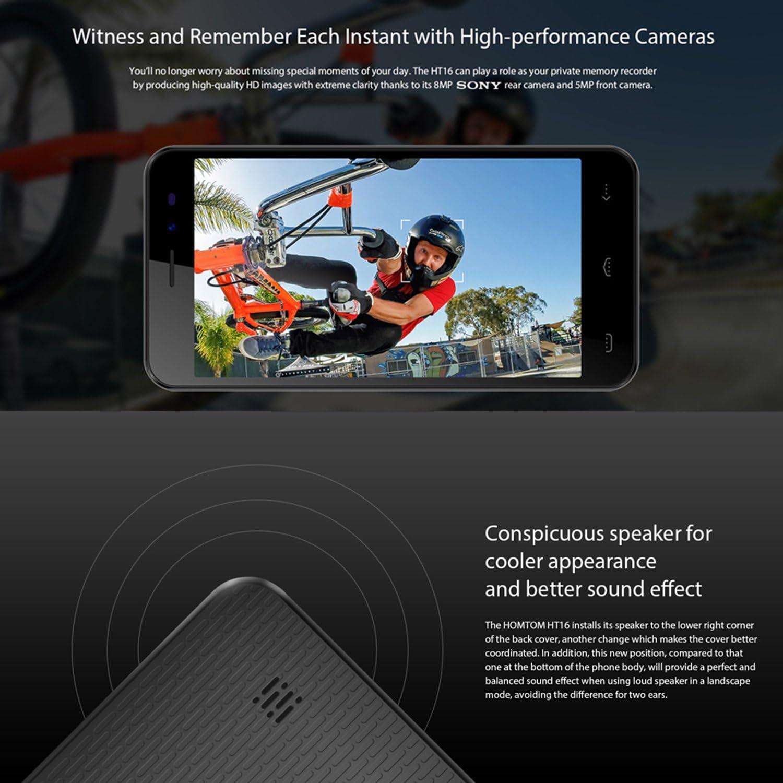Homtom HT16 - Smartphone Libre 3G de 5.0 HD (Android 6.0, Dual ...