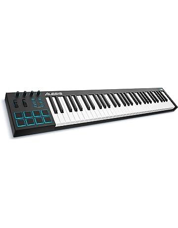 Alesis V61 - Teclado controlador USB-MIDI de 61 teclas con 8 pads, 4