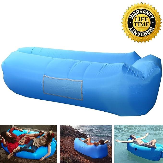 Amazon.com: Tumbona Hinchable Air sofá sofá exterior ...
