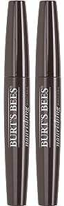 Burts Bees 100% Natural Nourishing Mascara, Black Brown - 0.4 Ounce (Pack of 2)