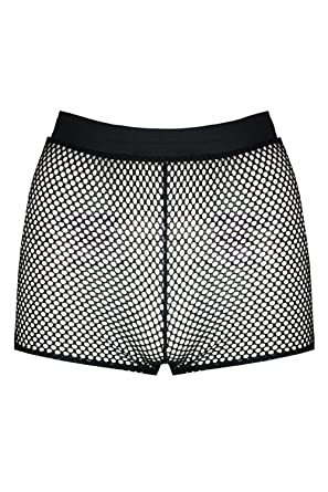 Be Jealous Womens Ladies All Over Fishnet Cycle Sports Fitness Casual Hot  Pants Mini Shorts b25a3f107d2