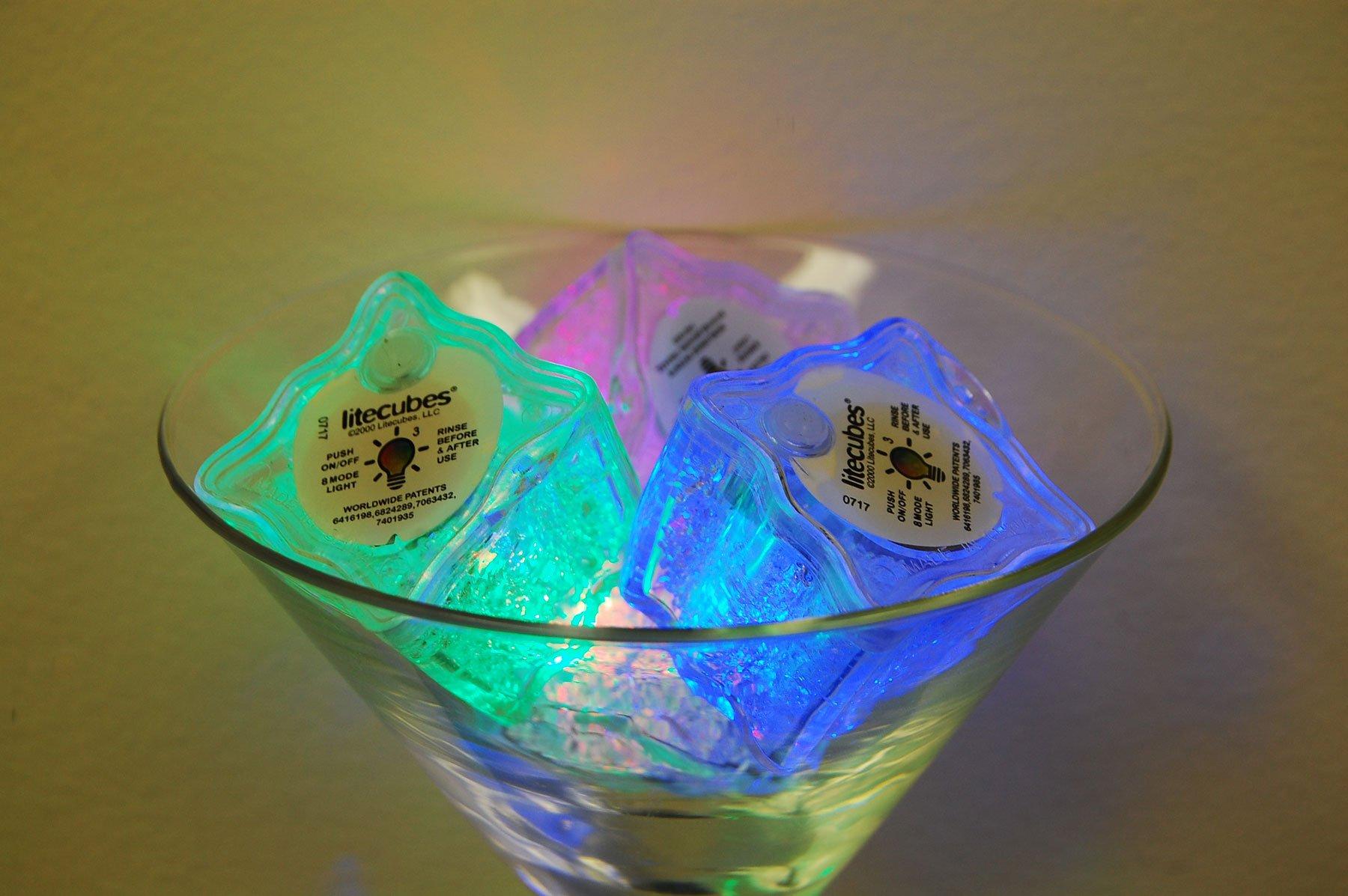 LiteCubes Set of 48 Brand 8 Mode MultiColor RAINBOW Light up LED Ice Cubes … by LiteCubes (Image #5)