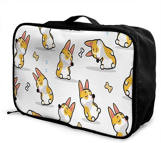 Terrier Dog Pattern Travel Carry-on Luggage Weekender Bag Overnight Tote Flight Duffel In Trolley Handle