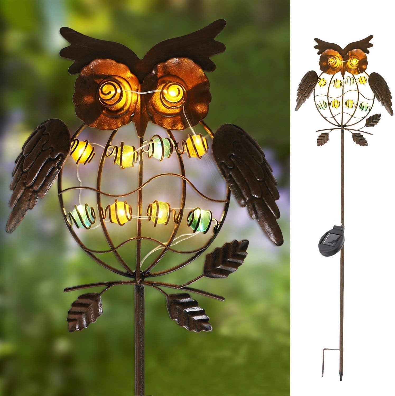 Solar Lawn Light Garden Yard Outdoor Lighting Waterproof Owl Light Kid Gifts