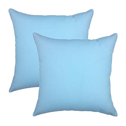 Amazon YOUR SMILE 40% Cotton Decorative Throw Pillow Case Classy Ice Blue Decorative Pillows