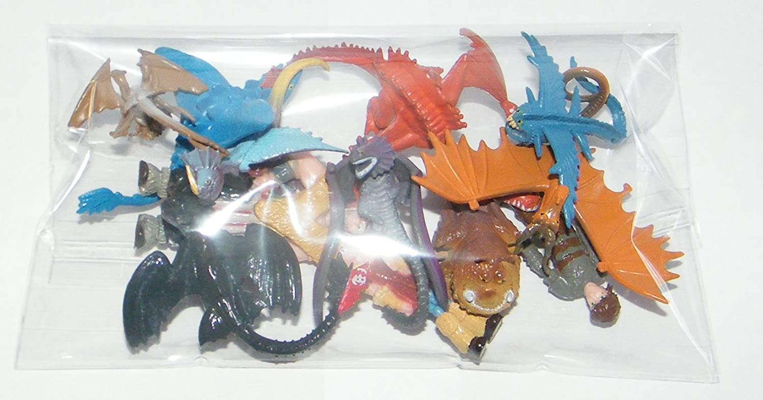 How to Train Your Dragon Set of 12 Figure Cake Toppers//Cupcake Party Favor Decorations with 9 Dragons Hiccup Astrid and Some New Characters!