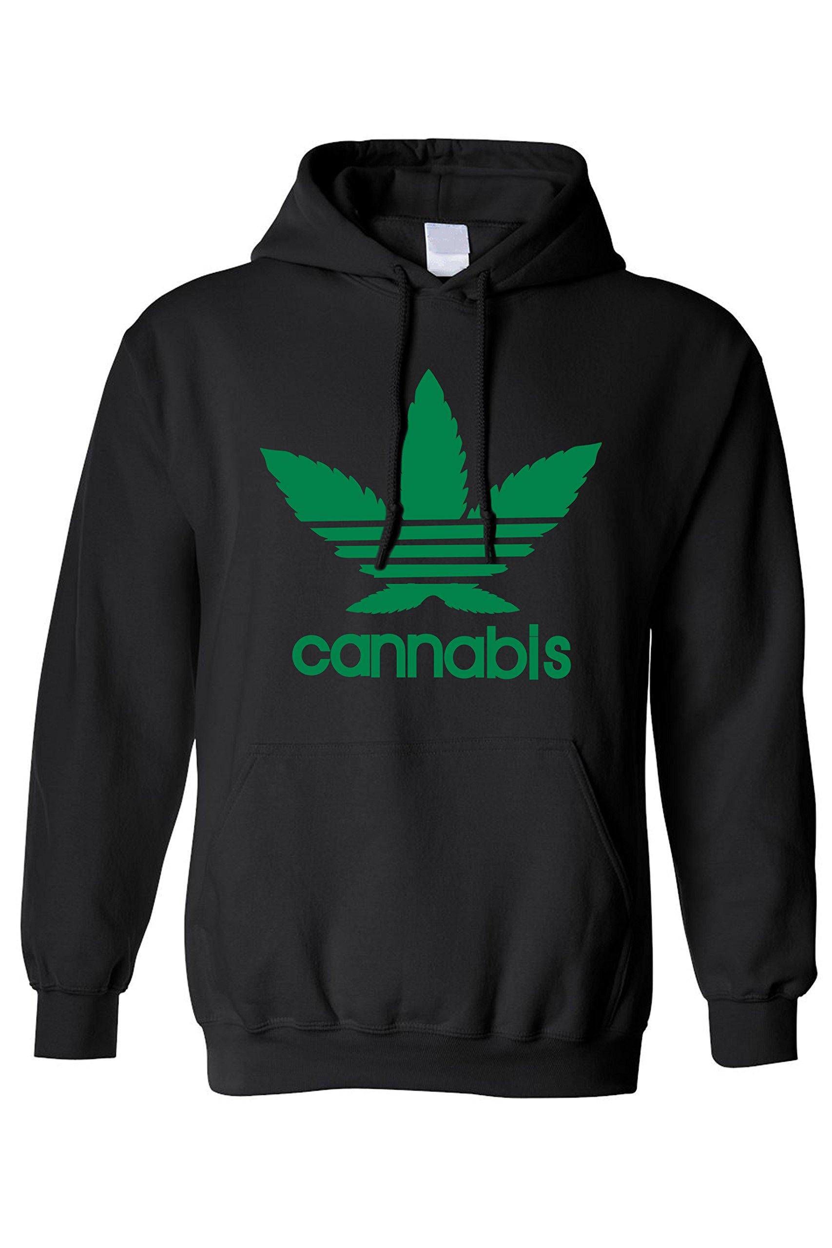 SHORE TRENDZ Men's/Unisex Pullover Hoodie Cannabis