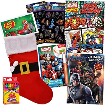 Avengers Libro de Colorear Regalo Set Avengers Stocking Stuffer Bundle, Christmas Marvel 7 Pack, Incluye Avengers Stickers, Avengers Invisible Ink, con Avengers Infinity War y Avengers Endgame: Amazon.es: Juguetes y juegos