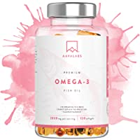 Omega 3 Olio di Pesce [ 2000mg ] By Aava Labs - ad Alta Concentrazione, EPA e DHA - 120 Capsule.