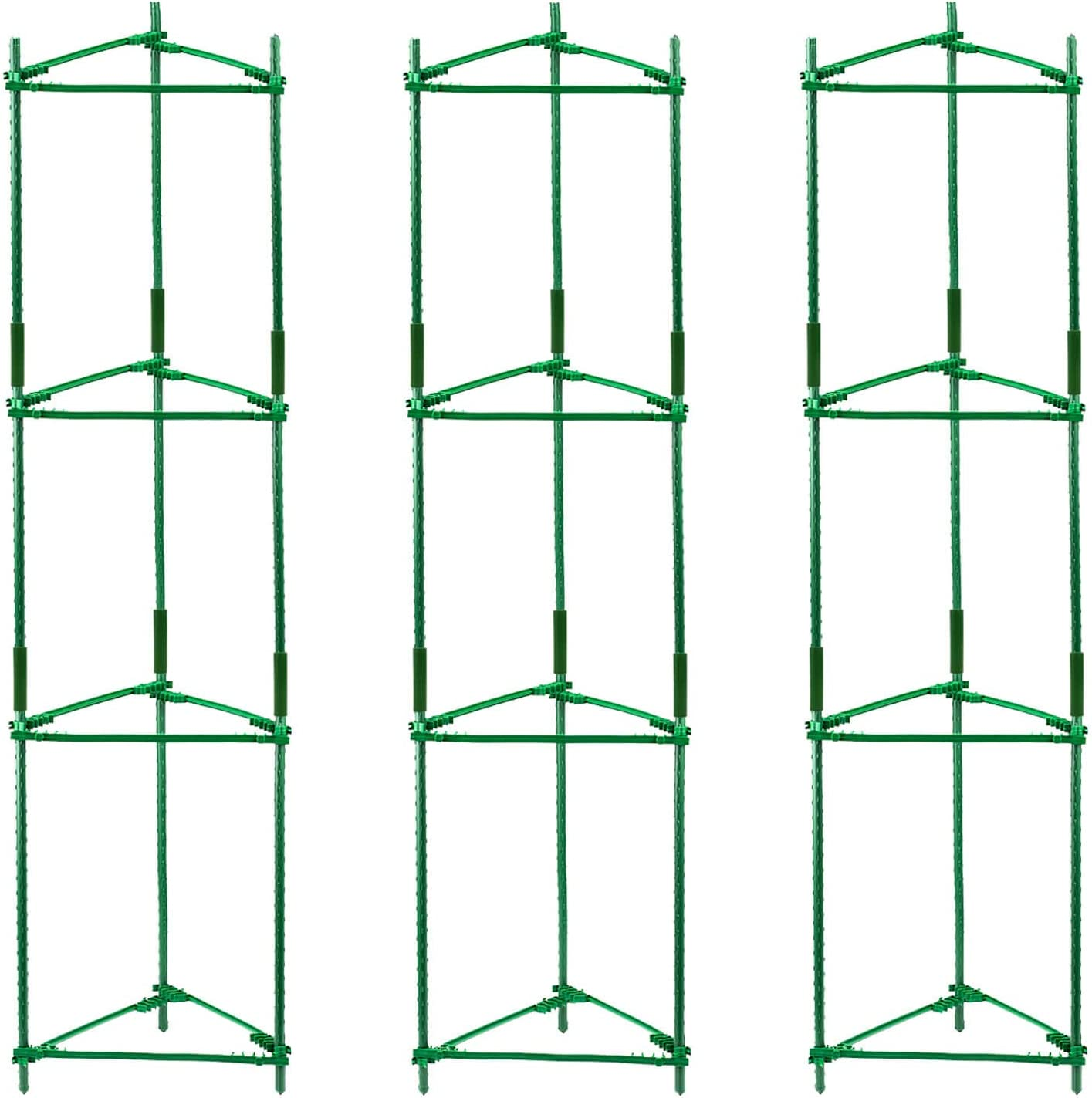 Orgrimmar 3 Pack Tomato Cages Garden Plant Support Stakes Outdoor Vegetable Trellis for Vertical Climbing Plant