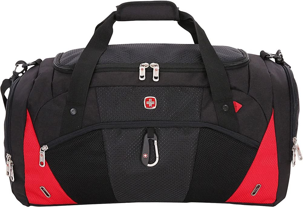 Swissgear Travel Gear 1900 22 Inch Overnight Duffel Bag – Black Red