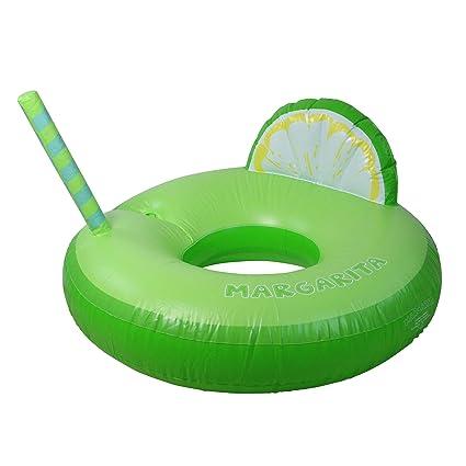 Amazon.com: Flotador hinchable verde Margarita con cuña de ...