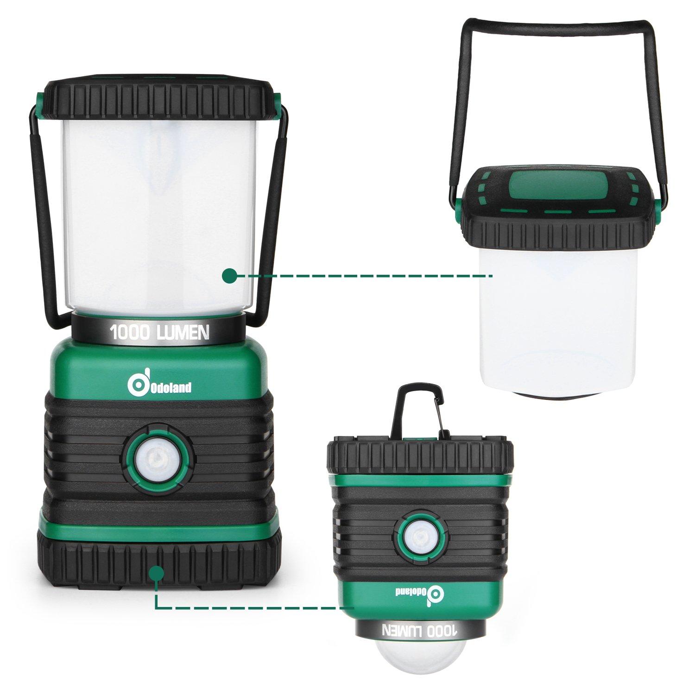 Odoland Ultra Bright 1000 Lumen Camping Lantern with Brightness Adjustment, Battery Powered LED Lantern of 4 Light Modes, Best for Camping, Hiking, Fishing & Emergency by Odoland (Image #7)
