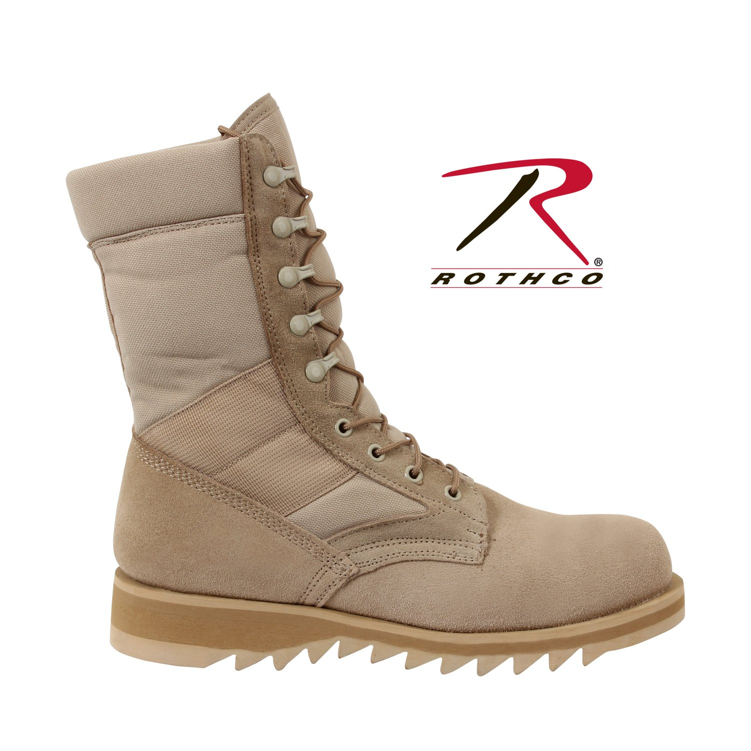 Rothco Desert Tan Ripple Sole Jungle Boot, 13W