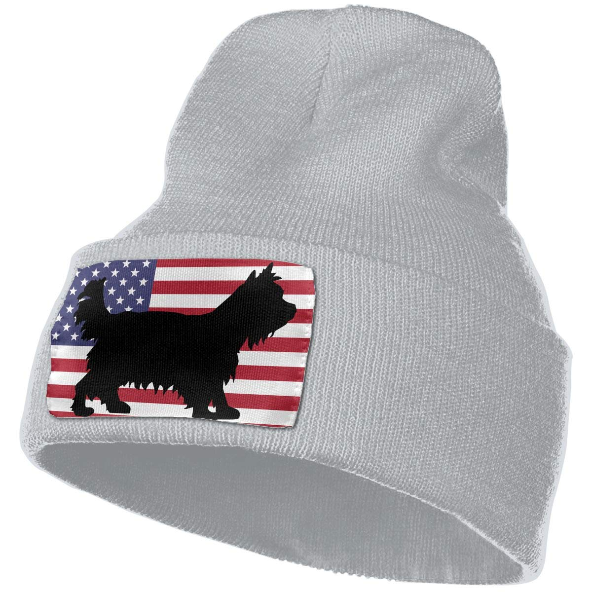 MXMAOM9MX Yorkshire Terrier USA Flag Warm Knitting Hat Mens Womens 100/% Acrylic Skull Cap