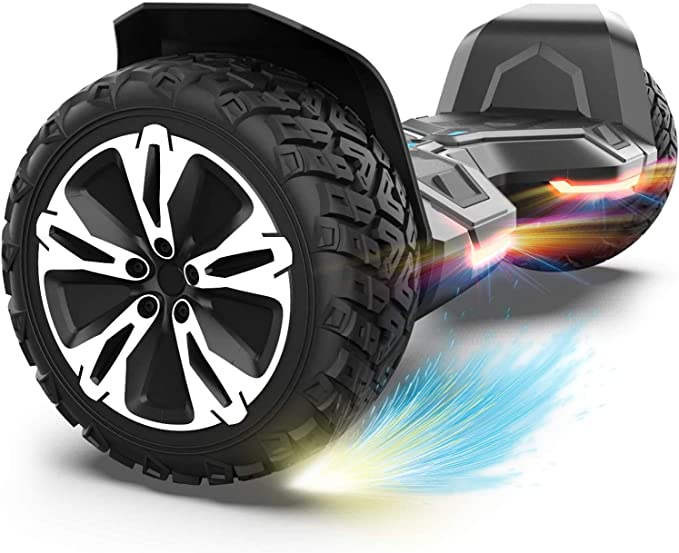 """GYROOR Hoverboard Offroad Hoverboard for Kids Adults 8.5"""" SUV Self Balancing Electric Scooter with Bluetooth Music Speaker and LED Lights UL2272 Certified Bear 20-120kg 700W"""