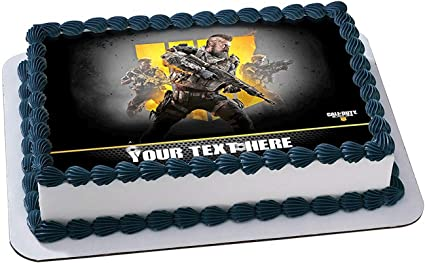 Pleasant Amazon Com Call Of Duty Black Ops Iv Edible Image Cake Topper Funny Birthday Cards Online Inifodamsfinfo