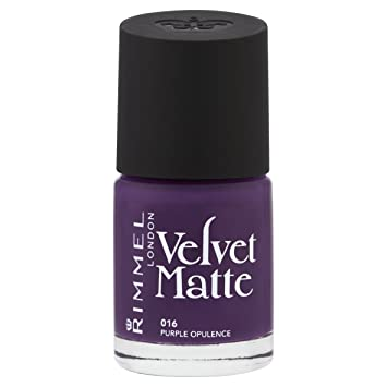 Rimmel Velvet Matte Nail Polish Purple Opulence