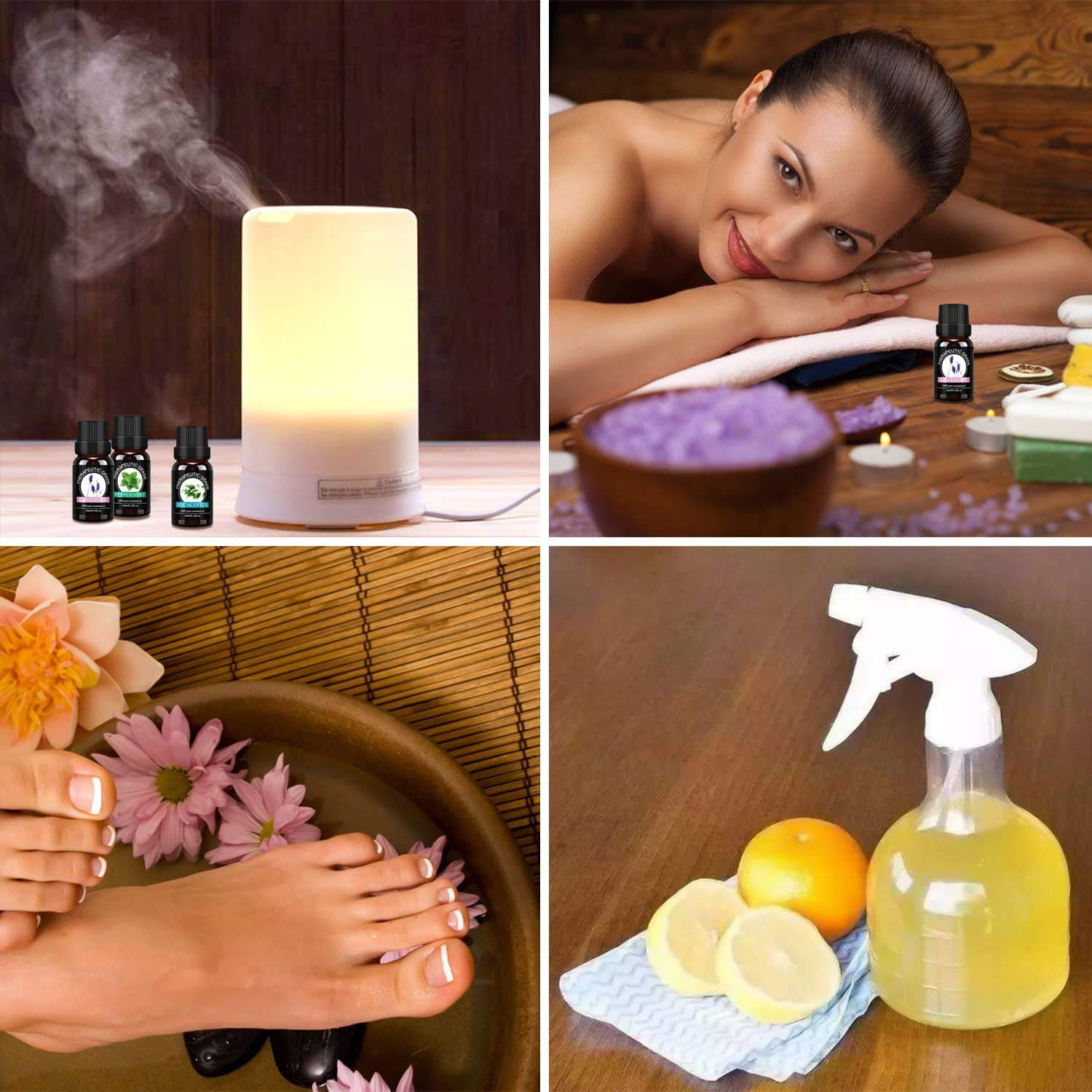 Essential Oils Top 6 Gift Set - Aromatherapy Diffuser Blends