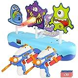 EKOOS Shooting Game Toy 2 Guns Set for Kids Monster Shooting Targets, Electronic Scoring Auto Reset with 3 Digital Targets, I