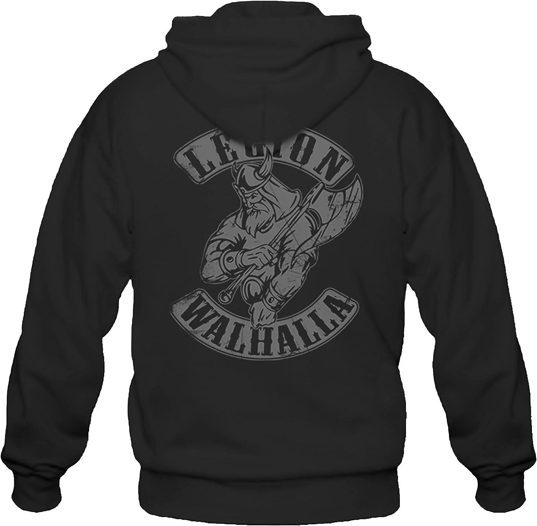 P-T-D Viking Viking Oldschool Norv/ège Veste /à capuche Noir