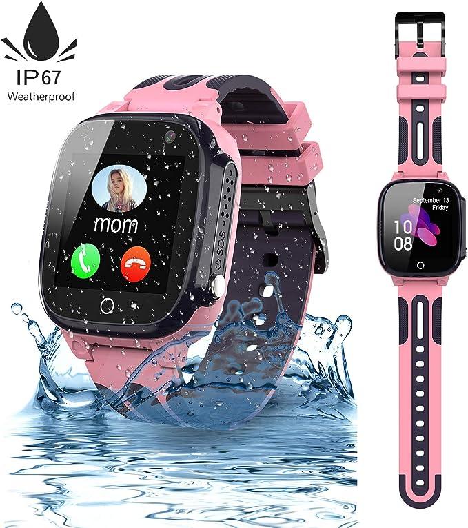 Jslai Niños Smartwatch Impermeable,Reloj Inteligente para Niños ...