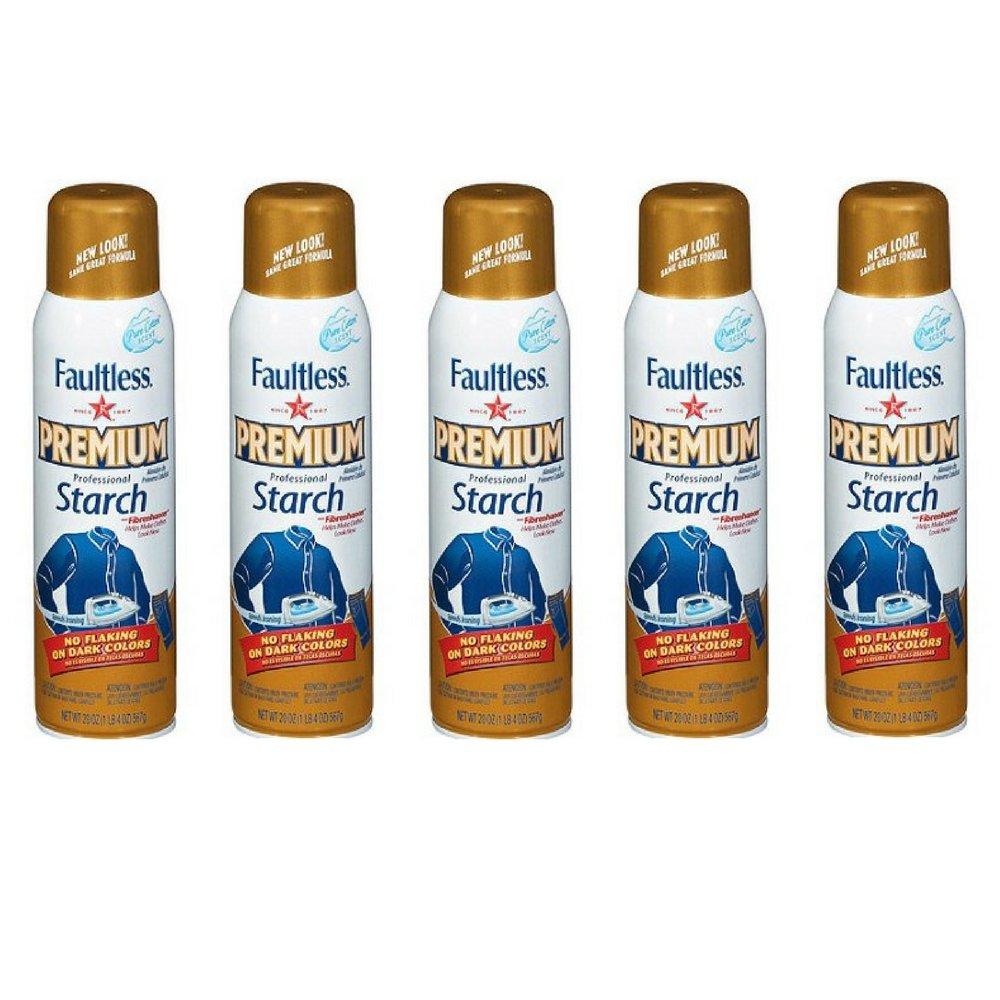 Faultless Premium Professional Starch, 20 Ounces (5)