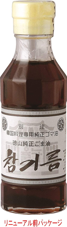 徳山物産 チャンギルム(純正ごま油) 150g