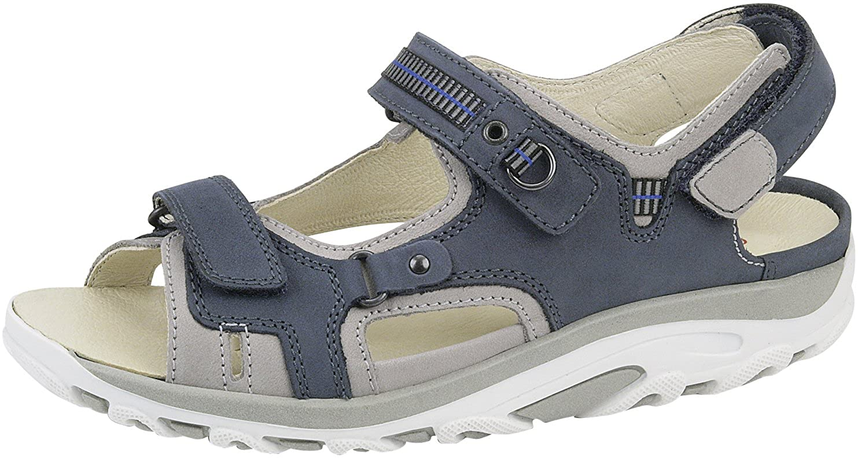 Blau Waldläufer Damen Sandaletten HANNI 448008 691 593 blau 207171