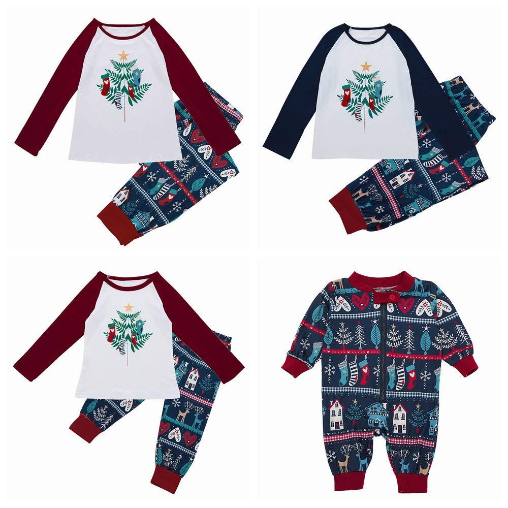 Matching Family Pajamas PJS Sets Christmas Sleepwear Plant Print Homewear Nightwear Girls Boys Kids Pajama Set Outfit