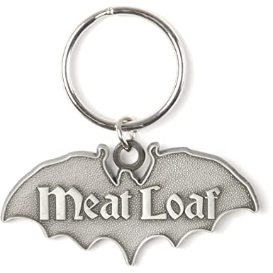 Amazon.com: Meatloaf Bat out of Hell metal Key cadena plata ...