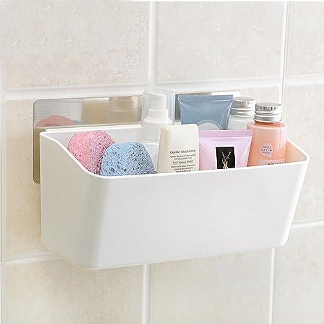 HOKIPO Magic Sticker Series Plastic Self Adhesive Bathroom Shelves
