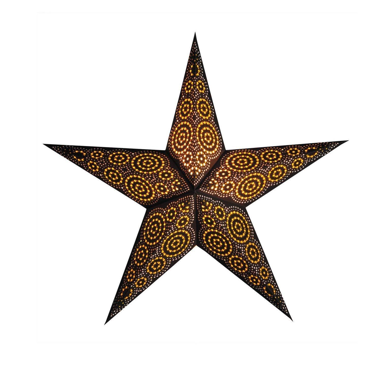 Papierstern Weihnachtsdeko | Weihnachtssternmarrakesh braun M | Handgemacht | Papierstern 5 Zacken | starlightz | Weihnachten Leuchtdeko | Weihnachtsgeschenk | Fensterdeko