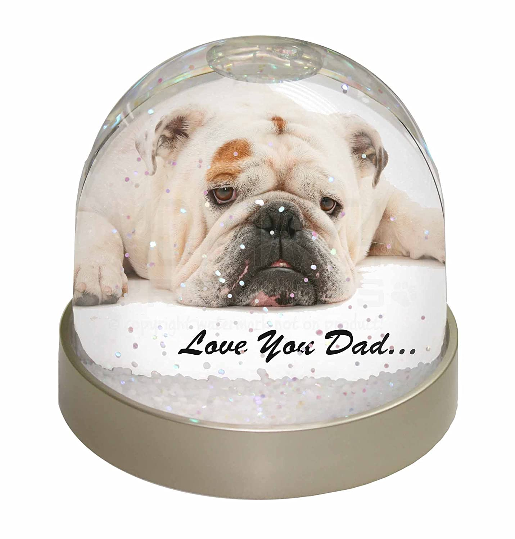 Advanta Bulldog Love You Dad Foto Snow Globe Schneekugel ...