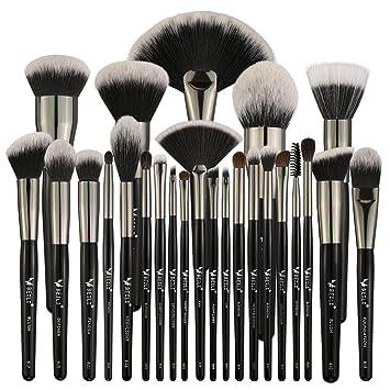 Amazon Com Beili Makeup Brushes 25pcs Professional Goat Hair
