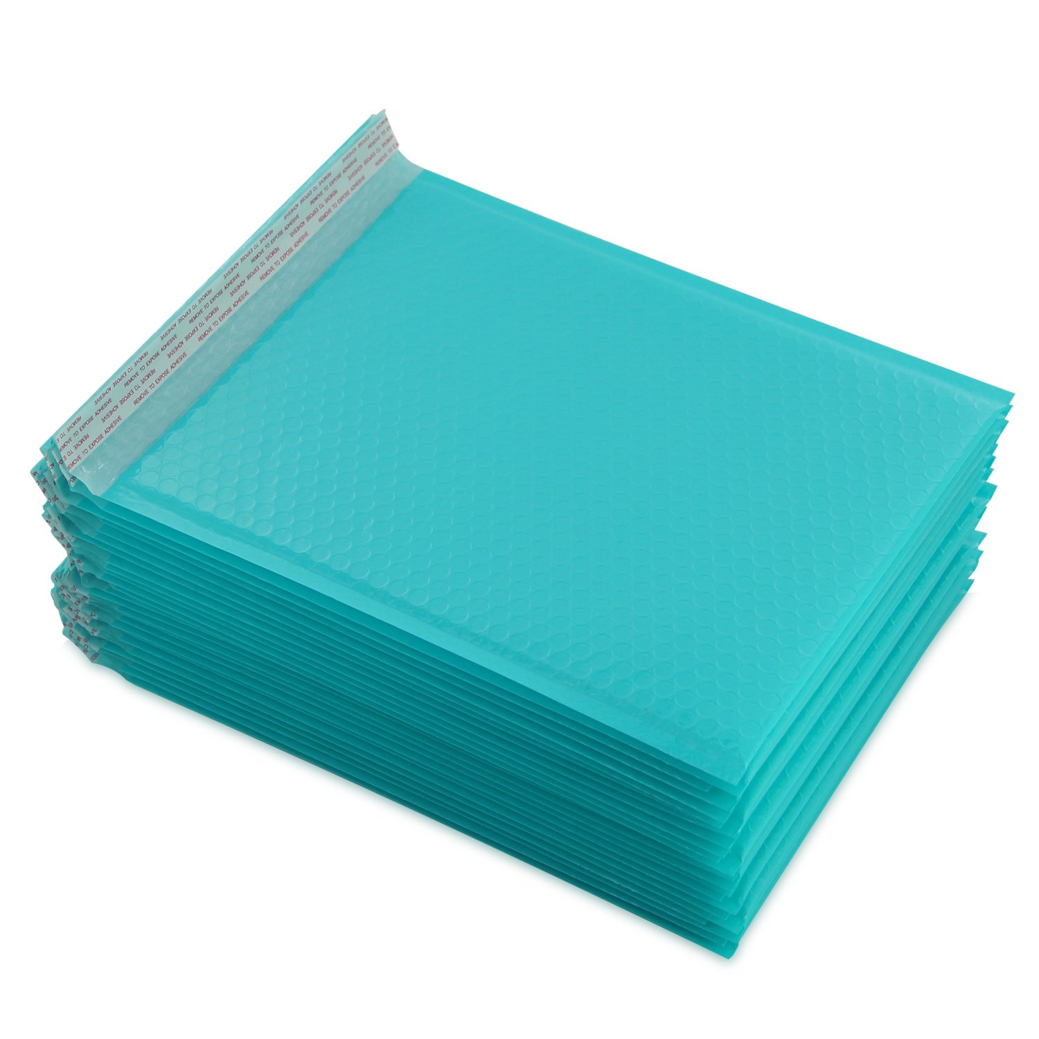 Yomuse D/1 Packaging Self-Seal Padded Bubble Plastic Mailers Postage Bags 190mm x 260mm 40mm Lip, Fits CD DVD, Pack of 50, Teal