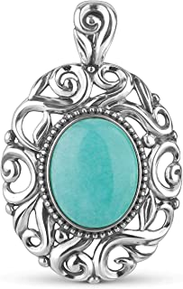 product image for Carolyn Pollack Sterling Silver Blue-Green Peruvian Amazonite Swirl Pendant Enhancer