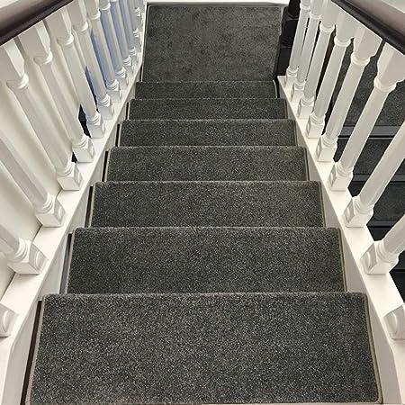 World-ditan Escalera alfombras peldaños Escalera peldaño Adhesivo Interior Autoadhesivo Escalera Antideslizante (Color : B (1pcs), Tamaño : 80 * 24 * 3cm): Amazon.es: Hogar