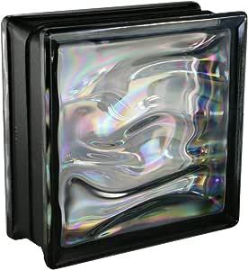 6 piezas BM bloques de vidrio AGUA perla negro 19x19x8 cm: Amazon.es: Bricolaje y herramientas
