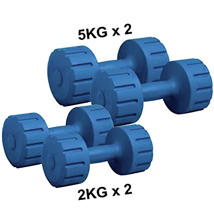 600a1c6a9c3 Image Unavailable. Image not available for. Colour  Protoner 5Kg and 2Kg PVC  Combo Dumbbell Set