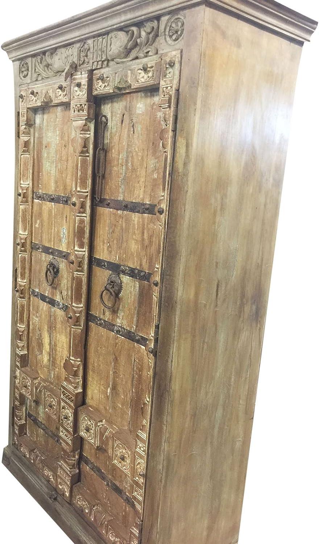 Mogul - Armario Antiguo, Puertas Antiguas, Muebles Indios, Armario de Almacenamiento de Hierro, decoración ecléctica: Amazon.es: Juguetes y juegos