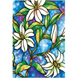 rrimin 45cm100cm orchid window film stained glass home privacy diy decoration